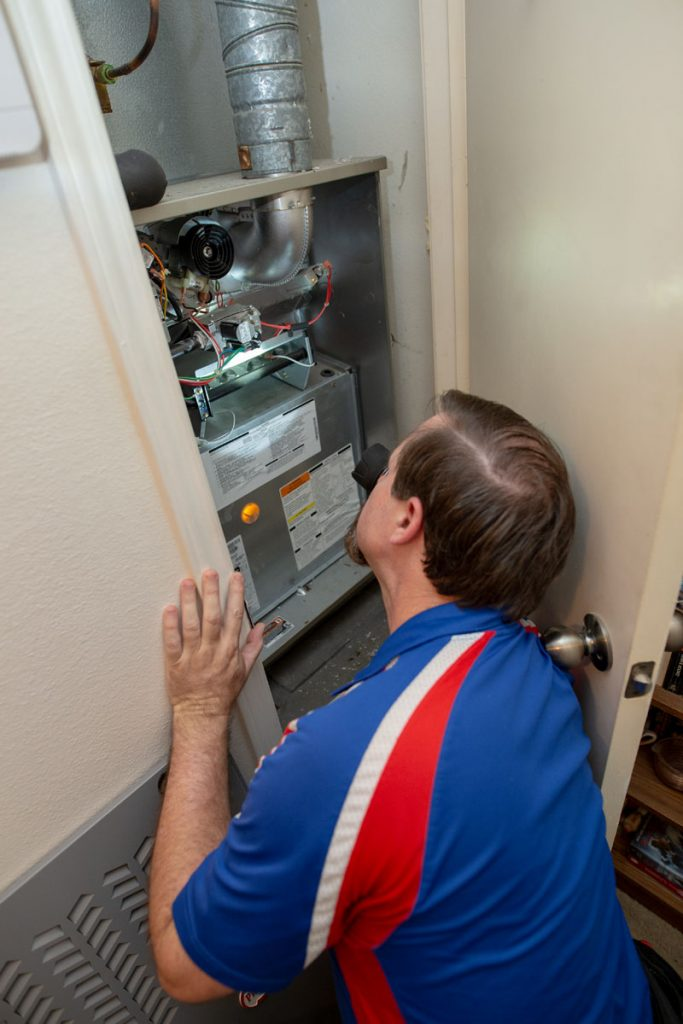 Professional home heater inspection