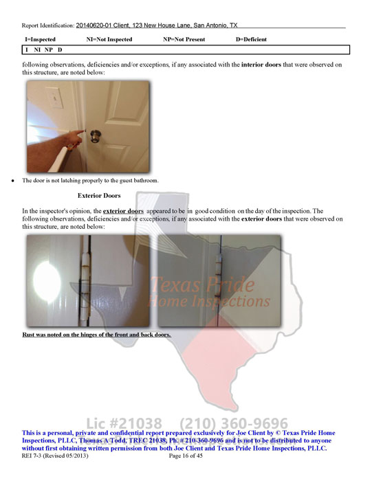 A Sample Report of our Detailed Home Inspection with 45 page